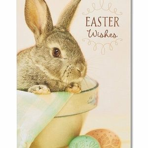 American Greetings Bunny Easter Card with Foil